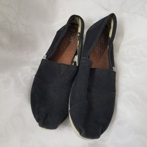 Toms Corduroy Size W8.5 Slip-On Shoes Black